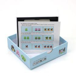子供のためのふたおよび底ボックスが付いているカスタム教育カード