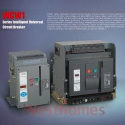 6300A MCBの回路ブレーカまで空気Acb情報処理機能をもったユニバーサル3p 4pの固定タイプ引出しのタイプWcw1