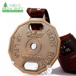Различные стили случае Венеции алюминиевую пластину рекламных медаль премии