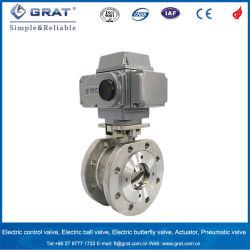 Dn65 Фланец соединения для тяжелого режима работы электрического под действием электропривода шаровой клапан