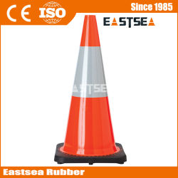 Arancione / giallo / verde di calce PVC flessibile Cono di sicurezza stradale