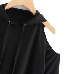 Kundenspezifische normale Normallack-lange Hülsen-beiläufige Absinken-Schulter Hoodie