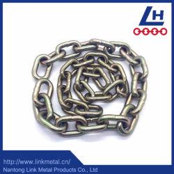 6mm DIN766 Aço Galvanizado Ouro Corrente de elo curto