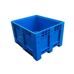 Caja de Paleta de Plástico Apilable Sólida Grande de HDPE Resistente para Autopartes