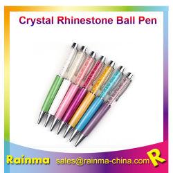 De mooie Luxe met de Pen van de Kristallen bol van Bling Bling kan Custonm Embleem als Reclame van de Gift van de Bevordering afdrukken