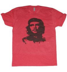 50% de algodão 50% POLIÉSTER T-shirt vermelha (A168)