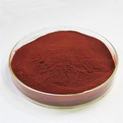 A cor vermelha em pó de iodo povidona