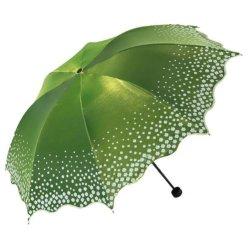 A moda tem proteção contra três anti-UV Flores Mulheres Parasol Umbrella