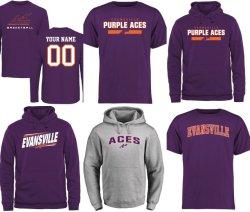 Настроить Evansville фиолетовый Ace Ncaa Джерси &Pullover Худи и футболки