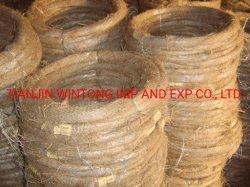 Haute qualité et galvanisé enduit de poudre sur le fil en acier au carbone