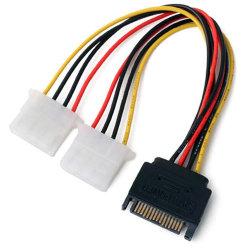 prix d'usine 15 pin mâle à 2 IDE SATA doubleur de câble d'alimentation femelle