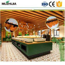 Soffitto di legno di plastica di legno del composto WPC del Faux per il progetto costruito dell'interno del soffitto
