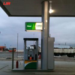 De entrada/salida de la estación de gasolina Fascia dosel firmar brillan de noche