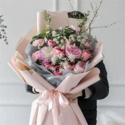 Papel de embalagem de flores de embalagens de papel tissue