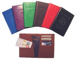 高品質狂気の革旅行パスポートのホールダーの切符の卸売のパスポートのホールダー