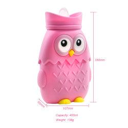 2020 nova vinda grande 450ml Soft Bonitinha garrafa de água quente, Owl moldar Saco de água quente de Silicone