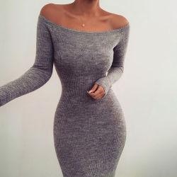 As mulheres para vestuário de moda ombro vestido Sexy Bodycon desligado