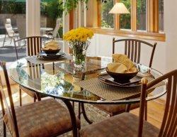 8mm de sécurité le verre trempé clair Table ronde de haut Finition biseautée pour protéger les meubles côté lit de table Table à café