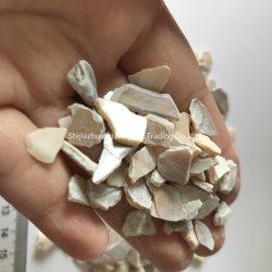 Aplastado Concha Nácar terrazo de agregado de material de decoración sin pulir los chips de conchas marinas Mop