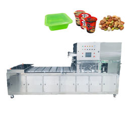 Automatische tray sealing machine snacks/biscuit/zaden/suiker/gedroogd fruit/bevroren voedsel/friet vis Skin Packaging Machines
