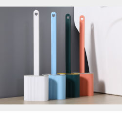Wc e escova de cerdas de Silicone conjunto porta-escova de limpeza Toliet Alça longa