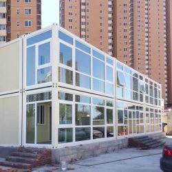 Light Steel Frame Prefab Sandwich Panel Home Vorgefertigten Container Office Haus