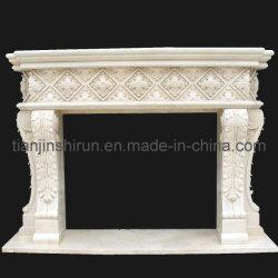 Lames de pierre à sculpter en marbre beige cheminée (PRF520)