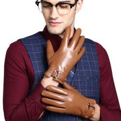 Mann-Zoll-passender realer äthiopischer Ziegenfell-Kleid-Winter-warme lederne Handschuhe