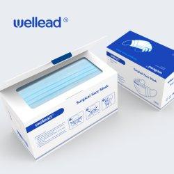 3 plis jetable imperméable de protection médicale et chirurgicale des oreille Ce Loop & cravate sur Masque facial