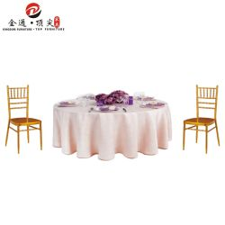 hecho personalizado muebles Shunde Foshan Buffet plegable para banquetes de boda mesa redonda con un paño