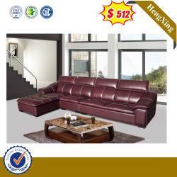 Hot Vendre Salon moderne en forme de l'angle réglable canapé en cuir fixe