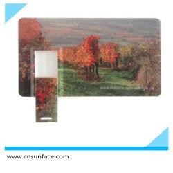 بطاقة ائتمان USB 2.0 بطاقة ائتمان العميل البلاستيكية قم بالتصاق محرك أقراص USB محمول ببطاقة الائتمان الملونة
