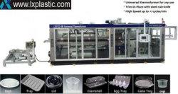 Plastik trägt Maschinenhälften-Verpackungs-Kasten-Ei-Tellersegment-Wasser-Kaffee-Milch-Cup-Behälter-Teller-Kappe gelüftete Maschinenhälfte Thermoforming Früchte, das Maschine herstellend sich bildet