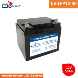 Csbattery 12V50ah Li-Lon Deep-Cycle-Batterie lithium-ion pour l'alimentation/Bank-Pack/Solar-Storage/Ada