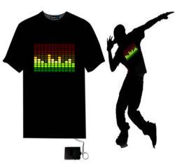 El sonido personalizado activado EL ilumina la camisa