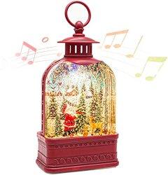 فانوس الميلاد الثلج Globe مع الموسيقى ، المضاءة المياه الثلج الديكور