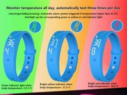 V9 LED Moda Digittal personalizadas de Silicone Borracha relógio com alarme do relógio e temperatura corporal