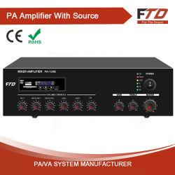 PA 시스템 120W 전력 증폭기(MP3 및 FM 포함