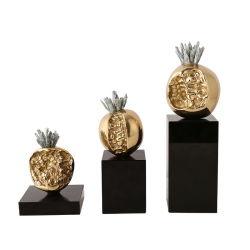 밝고 화려한 현대식 가구들, 자연 크리스탈 브래스 폼과리테 장식 전시 액세서리 선물 홈 장식