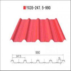 PE/HDP/SMP/PVDF Plaque en acier ondulé colorés pour Structure en acier préfabriqué chambre