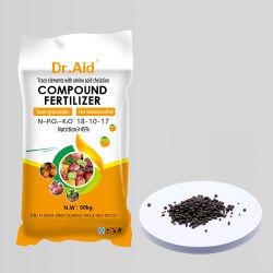 Ajuda Dr Torre Alta Adubo composto de nitrato de NPK 18 10 17 Sulfur-Based Nkp fertilizantes para frutos de plantas de melancia