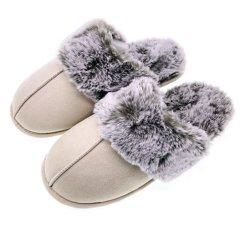 プラシ天のスリッパの革スリッパメンズ女性のスリッパの靴