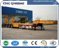 Cimc Tri-Axle низкая кровать прицепа 60 тонн для Эфиопии на рынок