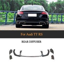 Diffuseur de bouclier arrière en fibre de carbone pour Audi Ttrs 2016-2018