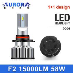 Aurora M8, faros de led de 12V 90W OEM Super brillante Resistente al agua IP68 Csp Chip 1+1 Ventilador Diseño Coche Faro de luz LED Bombillas LED PARA Auto