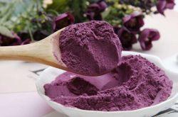 100%の自然な食糧顔料の紫色のヤマイモの粉の微粒
