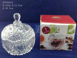 装飾的なキャンデーの皿/明確なガラス水晶デザイン卓上砂糖入れ