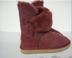 2013 Klassieke Stijl 100% de Australische Laarzen van de Sneeuw van de Schapehuid met Uw Rood 5803 van de Wijn van het Embleem van het Ontwerp