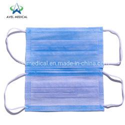 Nonwoven 3Capas desechables Mascarilla de papel de filtro anti-virus Mascarilla PM 2.5 Earloop tapa la boca para uso civil