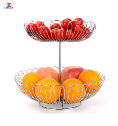 2020 야채와 과일을%s 신식 2개의 층 스테인리스 철사 바구니